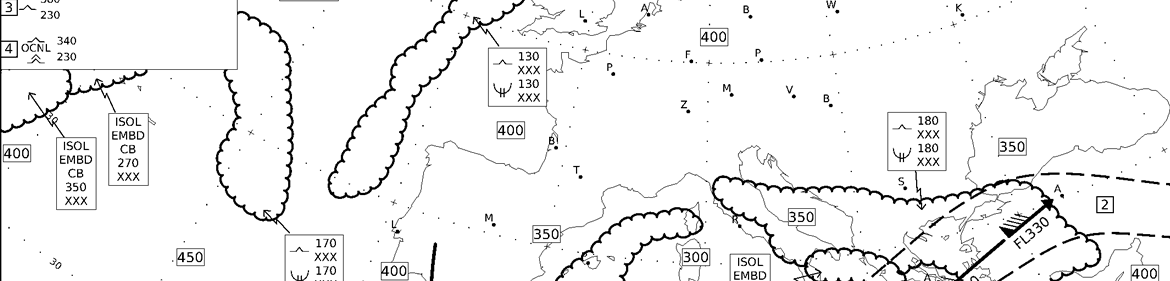 Aerbrava - Europe significant weather charts